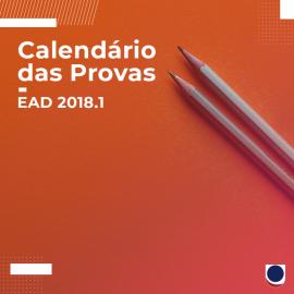 CALENDÁRIO EAD 2018.1